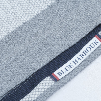 Blue Harbour Long Sleeve P.Q Rugby Polo Shirt For Men-Light Grey & Dark Grey-NA6490