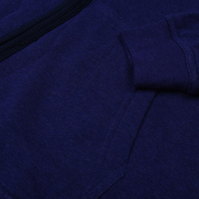 A&F Fleece Full Zipper Mock Neck Jacket For Men-Purple Melange-NA7795