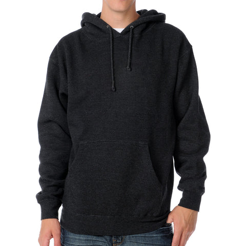 "Mens Cut Label ""Fat Face"" Pullover Hoodie Fleece -Charcoal-CLH18"