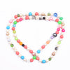 Delicate Imitation Coral Round Beads Necklace-NA5202