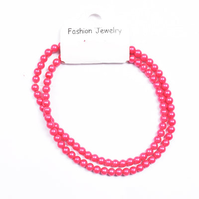 brandsego - Delicate Imitation Coral Round Beads Necklace-NA5202