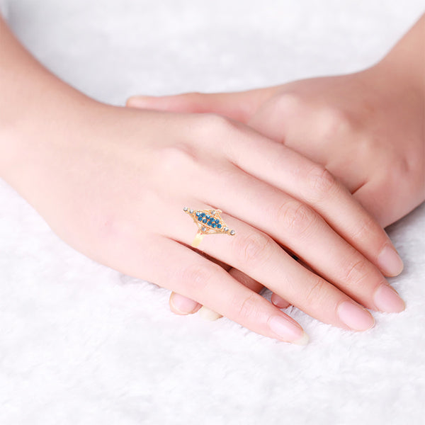 "Ladie's ""Stylish Ring""-BE408"