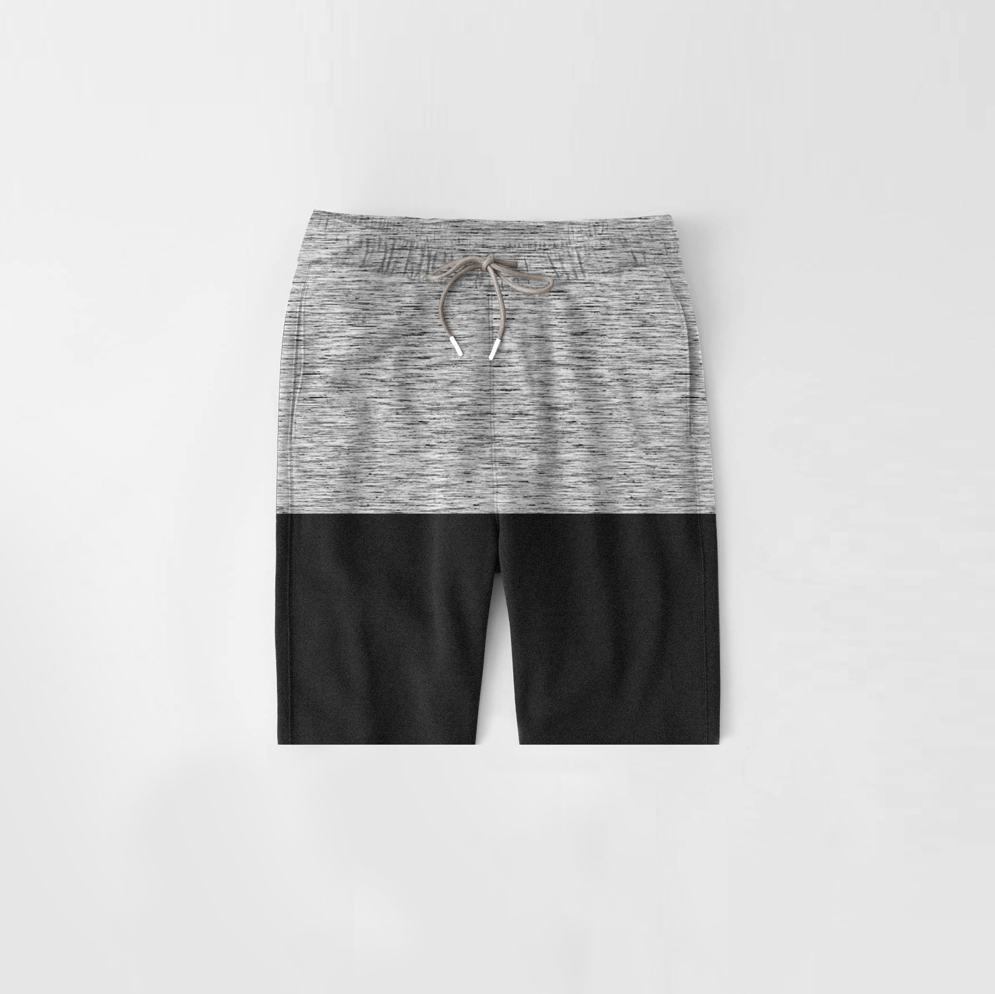 Diesel Summer Short For Kids-Grey Melange & Charcoal Melange-NA11273