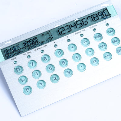 brandsego - Digital Battery Operated World Time Calendar/Calculator-NA7345