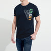 brandsego - Dolmen Single Jersey Half Sleeve Tee Shirt For Men-Dark Navy-NA1420
