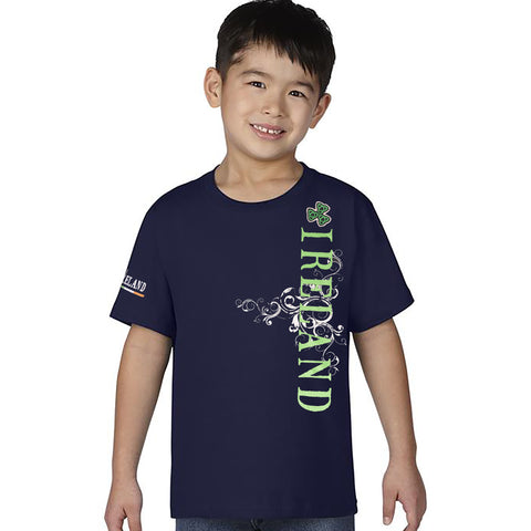 Dolmen  Single Jersey Tee Shirt For Kids-Dark Navy-BA000169