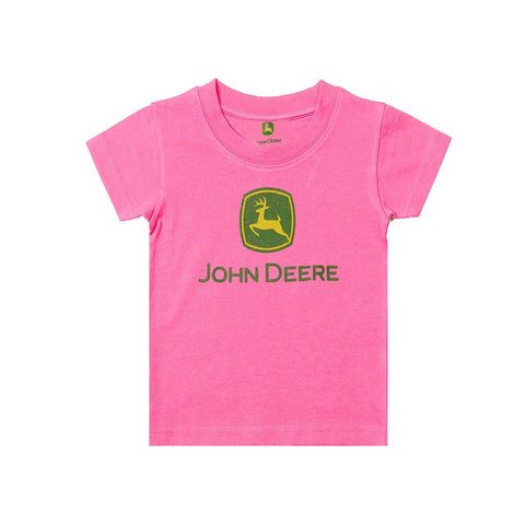 B Quality John Deere T Shirt For Kid Cut Label-Pink-BE2453