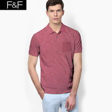 F&F Polo Shirt For Men With Pocket Style-Red Melange-BE2473