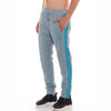 Adidas Cotton Trouser For Men-Bond Blue with Sky Blue Stripe-BE2503