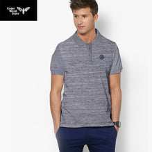 Cedar Wood State Polo Shirt For Men-Gray Melange-BE2479