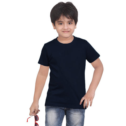 B Quality Next Half Sleeve T Shirt For Kid Cut Label -Dark Navy-BE2192