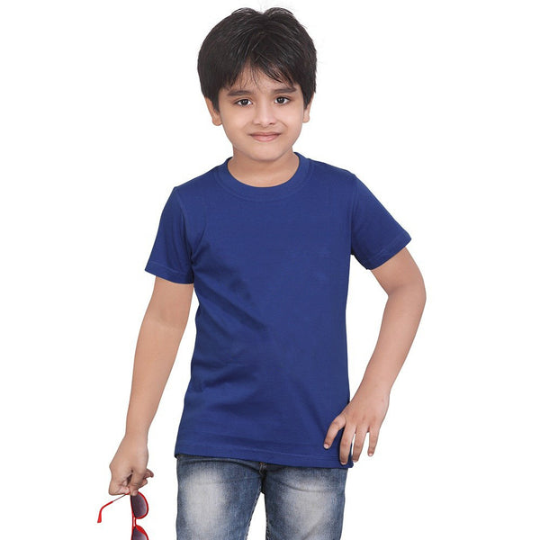 Fassion T Shirt For Boys-Blue Melange-BE778