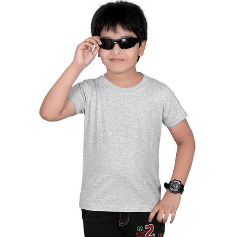 Next Crew Neck T Shirt For Kid Cut Label-Gray Melange-BE2299