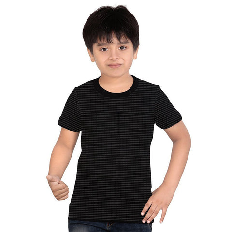 Next Half Sleeve T Shirt For Kid Cut Label -Black & White Dotted-BE2193