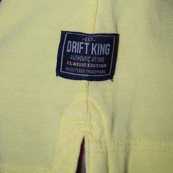 Drift King-P.Q-Polo-Shirt-For-Men-Light Yellow-BA00038