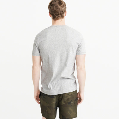 Drift King Crew Neck T Shirt For Men-Light Grey Melange-NA6112