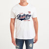 Drift King Crew Neck Tee Shirt For Men-White-NA6113