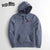 Drift King Fleece Zipper Hoodie For Men-Blue Melange-NA6344