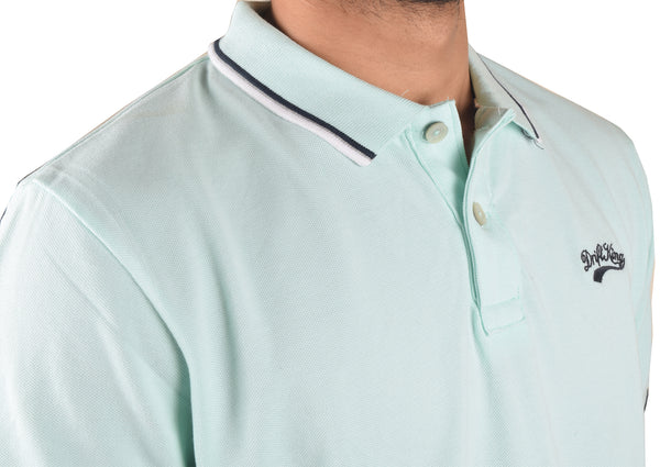 Drift King P.Q Polo Shirt For Men-Light Sea Green-BA00090
