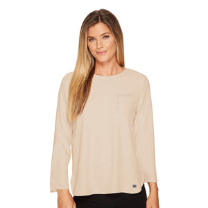Eight 2 Nine Long Sleeve P.Q Blouse For Ladies-Middle Beige-NA5927
