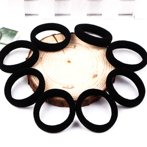 Pack Of 7 Elastic Hair Band Poni-Black-NA1425