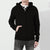 F&F Fleece Full Zipper Hoodie For Men-Black-BE4287
