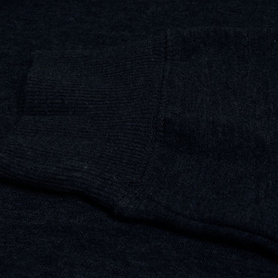 F&F Pullover Fleece Hoodie For Men-Dark Navy Melange-BE3860