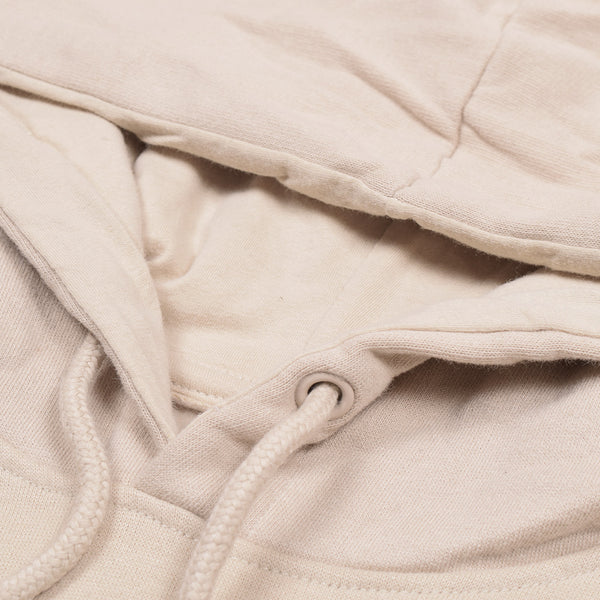 F&F Pullover Fleece Hoodie For Men-Light Cream-BE3797