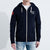 F&F Zipper Fleece Hoodie For Men-Dark Navy-BE6187