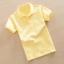 K12 Polo Shirt For Kid Cut Label-Light Yellow-PSK58