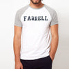 Farrell Crew Neck Raglan Sleeve Single Jersey Tee Shirt For Men-Grey & White-NA8623