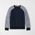 Farrell Crew Neck Raglan Sleeve Terry Fleece Sweatshirt For Men-Dark Navy Melange & Grey Melange-NA6581