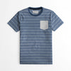 Farrell Crew Neck Single Jersey Tee Shirt For Men-Yarn Dyed All Over Print-NA8627