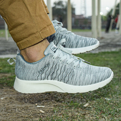 Fashion Wild Breathable Sports Shoes For Men-Grey-NA10968