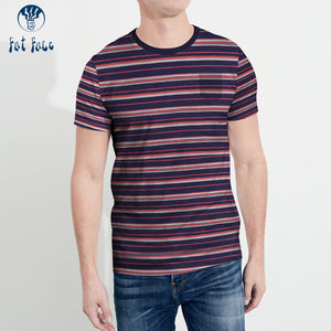 Fat Face Crew Neck Pocket Style T Shirt For Men-Striped-BE4337
