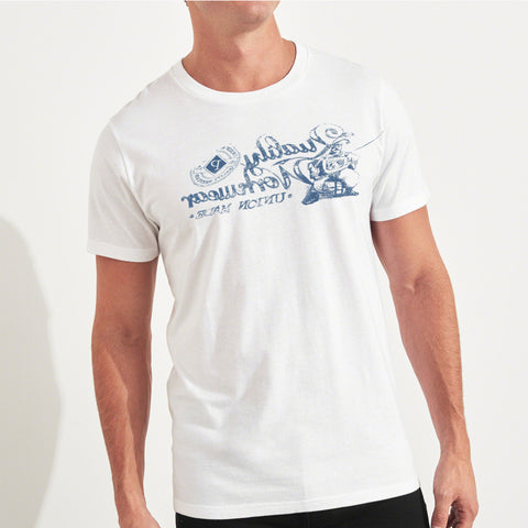 Fat Face Crew Neck T Shirt For Men-White Malange-BA00243