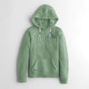 Fat Face Fleece Henley Hoodie For Women-Light Sea Green-NA6824