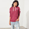 Fat Face Fleece Pullover Hoodie For Women-Dark Pink-NA6822