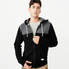 Fat Face Fleece Zipper  Hoodie For Men-Black-NA7492