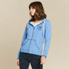 Fat Face Fleece Zipper Hoodie For Women-Light Sky-NA6821