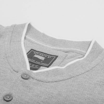 brandsego - Fat Face Henley Half Sleeve Thermal Tee Shirt For Men-Dark Grey-NA8218