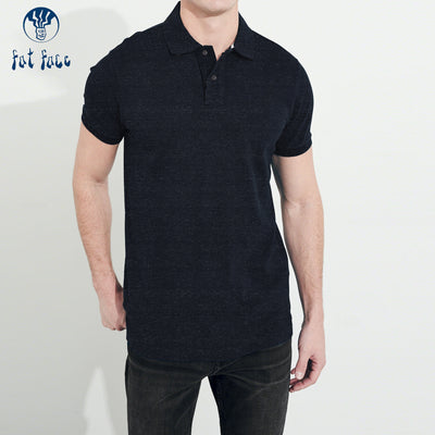Fat Face P.Q Polo Shirt For Men-Dark Navy Melange-BE4310