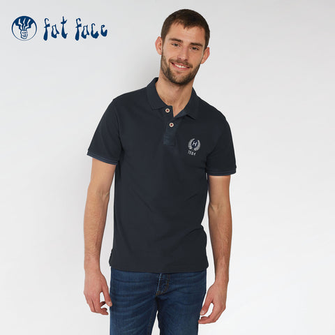Fat Face P.Q Faded Polo Shirt For Men-Light Navy-NA969