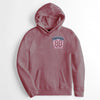 Fat Face Raglan Sleeve Terry Fleece Pullover Hoodie For Men-Light Pink Melange-NA6864