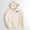 Fat Face Raglan Sleeve Terry Fleece Pullover Hoodie For Men-Off White Melange-NA6860