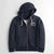 Fat Face Terry Fleece Zipper Hoodie For Men-Light Navy Melange-NA6859