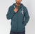 Fat Face Zipper Hoodie For Men-Dark Slate Grey-BE4056