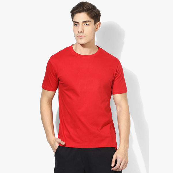 Boohoo Man Crew Neck T Shirt For Men-Red-BE911