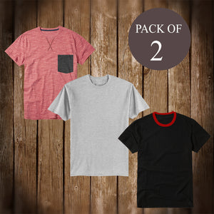 Pack Of 2 T Shirt For Men-AT49