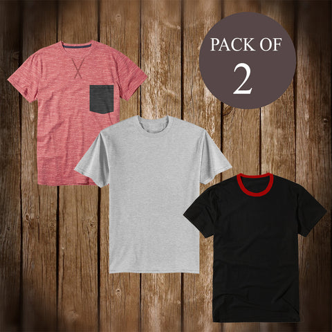 Pack Of 3 T Shirt For Men-AT49